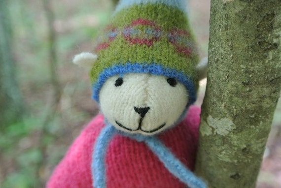 Pogo - Anna, small wool bear, eco-friendly