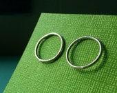 Post Hoop Earrings, Smooth Simple Circle, Argentium Sterling Silver Earrings