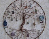 Cusom Listing for hallshalfacre only - Earring Tree, Copper Tree of life, earring holder, jewelry tree, jewelry display, earring display