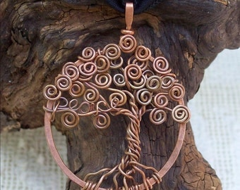 Personalized Tree of Life Pendant , Copper Tree with your personalized word, custom and unique, Mothers day gift