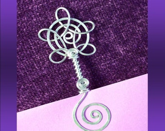 Bookmark or Bubble Wand, You Decide, Unique, custom, personalized, hand etched, Flower Swirl..wedding favor...party favor...perfect gift