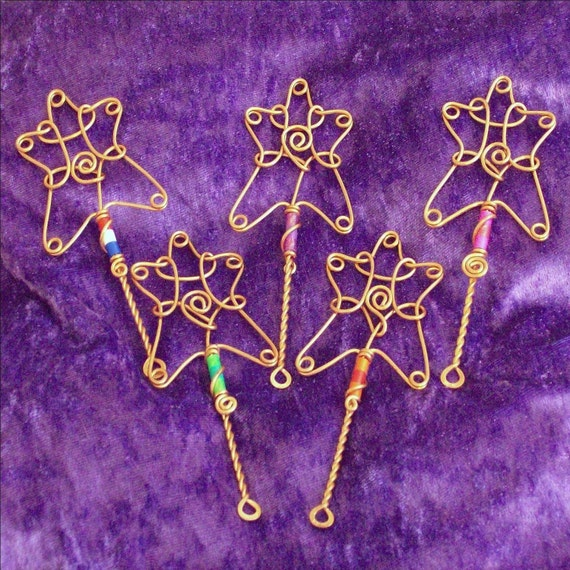 Mini bubble wands set of five fairy wands princess wands for Mini bubble wands