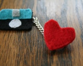 Camera Love Brooch with Chain
