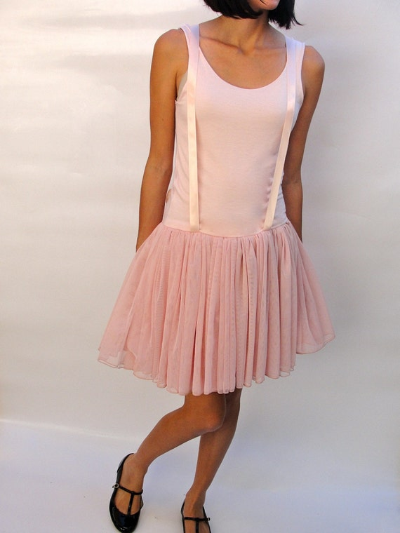 SAMPLE SALE  Ballerina Pink Suspender Dress size Small