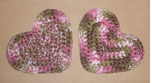 Pink camo hearts military camouflage potholders decorations for Pink camo decorations