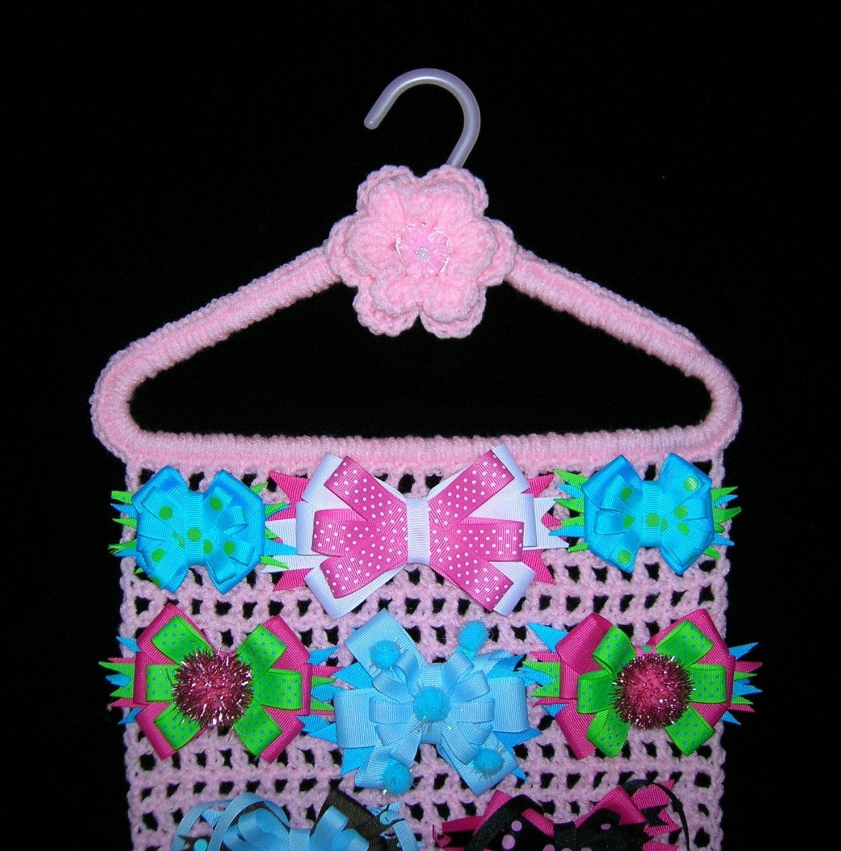 HAIR BOW HOLDER Pink Closet Organizer Hanger Storage Jewelry