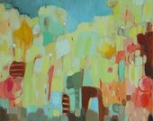 City No.02 Giclee Print 6x6 from original oil mix media painting