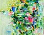 April Giclee Print 6x6 from original abstract oil painting
