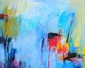 Abstract Painting, Oil Painting, Fine Art Print , Giclee Print , Wall Art , Wall Décor , Rain Print 12x12