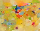fine art Giclee Print 12x12 - Sunset Landscape
