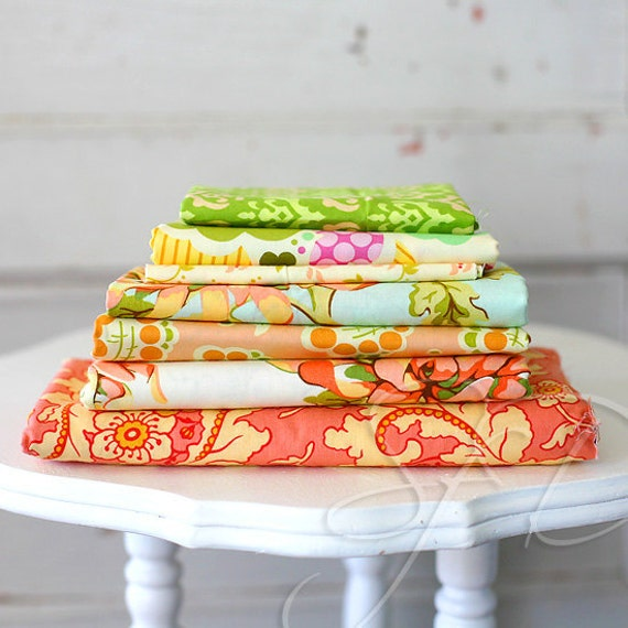 Fresh Cut by Heather Bailey... fabric lot of 7... destash 5 yards plus