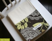 Organic Bamboo Fleece Baby Blanket - Lacework