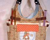 Large Knitting/Crochet Tote-PLAYING DUTCH