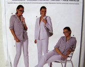 Sewing Pattern Burda 7787 Pantsuit Size 10-22 Uncut and Complete