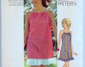 Vintage 70s Sewing Pattern Simplicity 9980 Misses' Mini Dress How to Sew Size Medium Complete