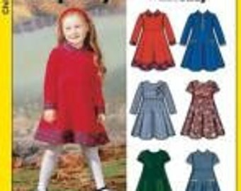 Sewing Pattern Simplicity 5827 Girl's Dress Size 3-8 Complete