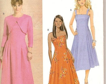 Sewing Pattern Butterick 4725 Misses' Dress and Shrug Uncut and Complete FF