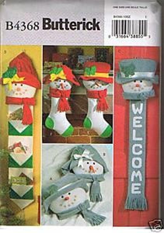 Snow People Christmas Sewing Pattern- -Butterick 4368- Uncut