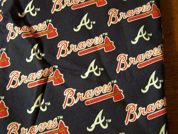 Atlanta Braves Cotton Fabric Fat Quarters Mlb Hard To Find