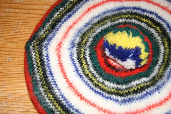 Vintage LL Bean Beret Dress Stewart made in Scotland 100 percent wool