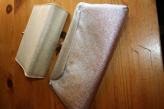 gold and silver silver and gold 2 vintage clutch purses you get both ready for the party season