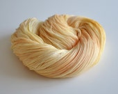 Apricot Marmalade - Hand Dyed Lace Yarn - Lace Weight - Merino and Silk - Beige, Gold and Peach