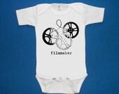 Filmmaker baby onesie creeper silkscreen screenprint Choose Size