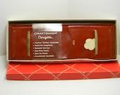 Vintage leather  wallet -  Craftsman Mens Brown Saddle Leather Bi-Fold Wallet Cosmopolitan w/Box.