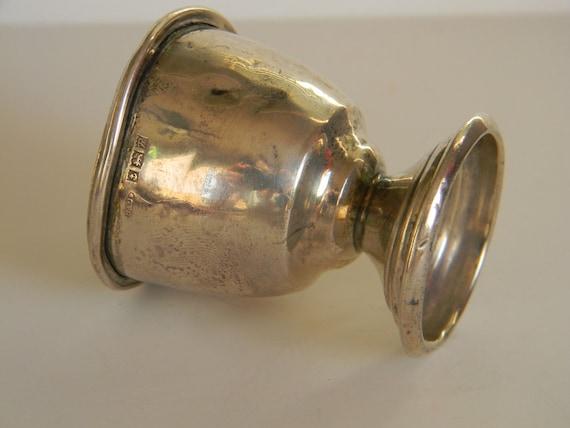 Vintage silver eggcup, British, 1955 sterling silver