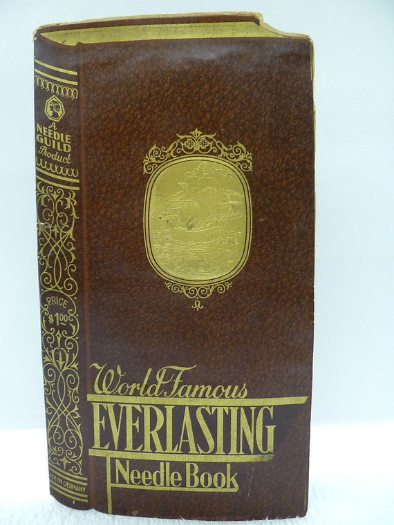 Vintage needle book World Famous Everlasting Needle Book , A Guide, Needle Product,  Made in Germany