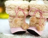 Fuzzy Eskimo Boots (Pink)