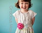 Gracious May Honeysuckle Tea Dress - Casual Birthday Party Wedding Flower Girl