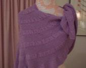 Hand Knit Bamboo Shoulder Shawl