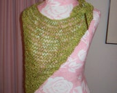 Hand Knit Silk Beaded Shawl