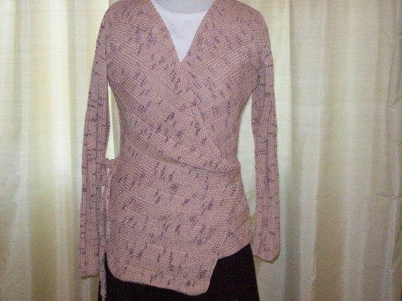 Hand Knit Fashionable Wrap Cardigan
