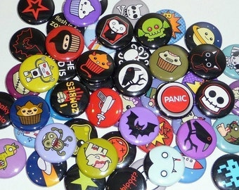 Horror / Sci Fi - 1 Inch Button Pack  (Pick Any 10 Designs )