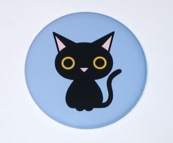 Black Cat - Pocket Mirror
