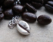 Coffee Bean, Necklace, Sterling Silver, Sterling Silver Coffee Bean