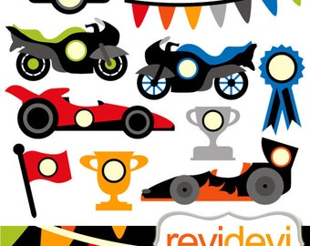 Clipart Fast Wheels 07383..  race cars and motors graphic images.. transportations cliparts