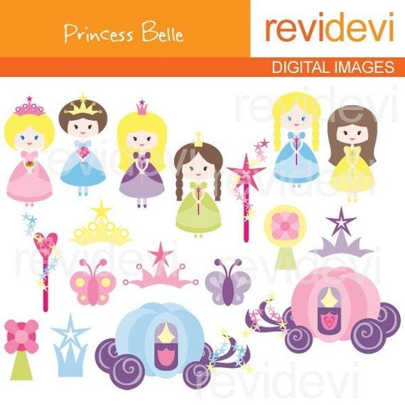 Princess clipart - Princess Belle 07181 - Digital Images - Cute Clip art