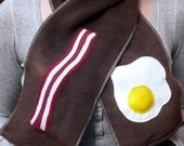 Reserved for John, bacon and egg scarf and glove set