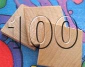 100 Wooden Square Tile Blanks for Making Resin Pendants - 1x1 \/ 25 mm squared - Scrabble Tile alternative - Priority Mail service