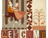 Welcome- Digital Print in Frame