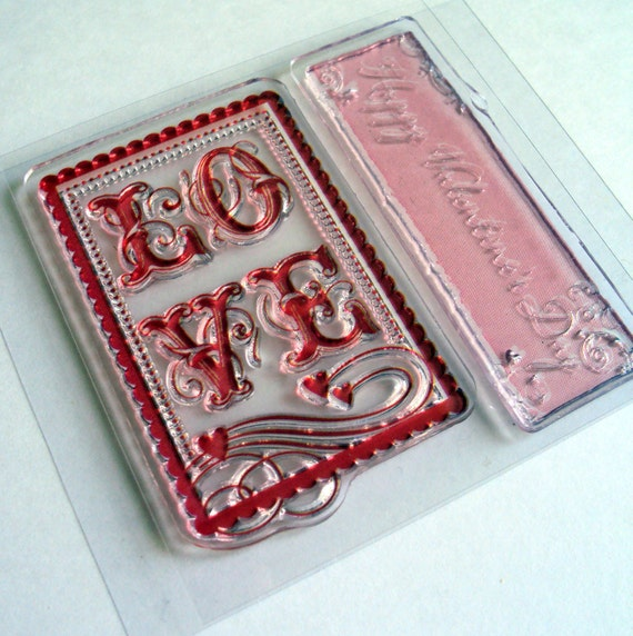 Love Postage Stamp Wedding Valentine's Day Clear Acrylic Stamps Be Mine Love You Card Making Scrapbooking Stamping Supplies