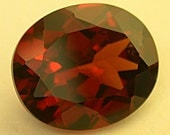 Vintage Faceted Gemstone SPESSARTINE RED GARNET Gem 6.14cts fg59
