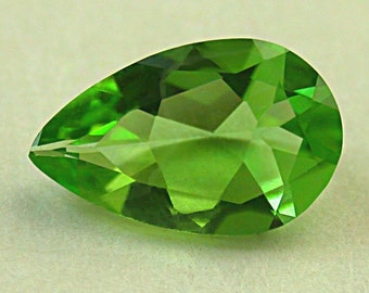 GREEN TSAVORITE GARNET Loose Gemstone Vintage Pearshape 0.55cts fg56