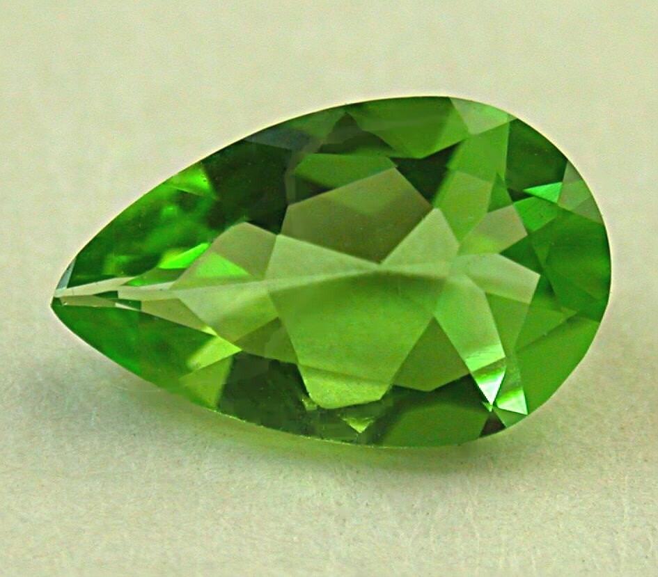 green tsavorite garnet gemstone vintage by eurekaeureka