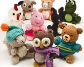 Amigurumi Animal Friends Toys - Owl, Squirrel, Bear, Frog, Skunk, and More - Knit Pattern Book