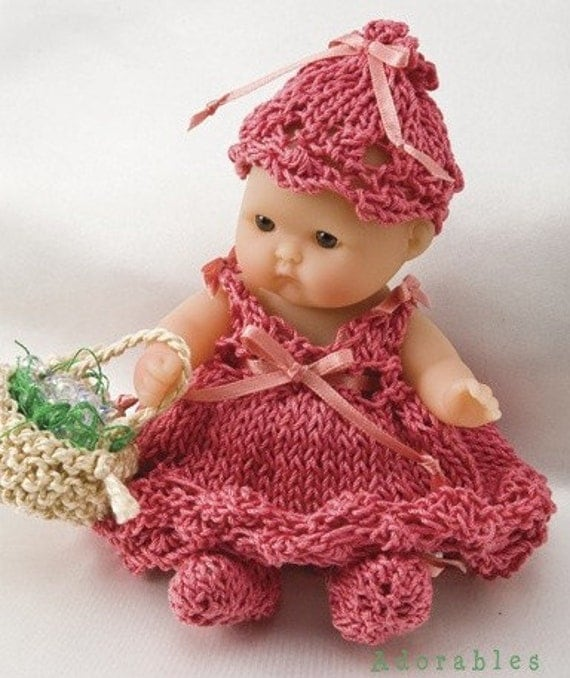 5 inch Itty Bitty Baby Doll Clothes to Knit Miniature