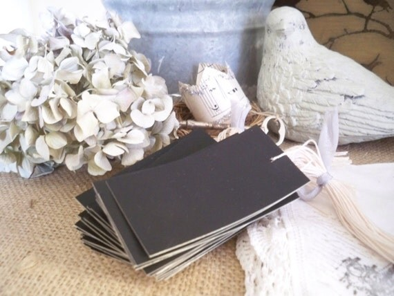 Reserved for Donna Chalk Board Tags on Manila CardStock Dozen